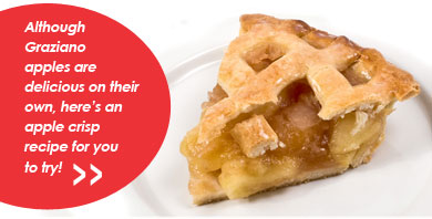 Although Graziano apples are delicious on their own you might want to enjoy our fresh homemade apple pies... yum!